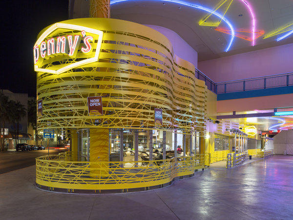 The exterior of the recently opened Denny's at the Fremont Street Experience in Las Vegas.