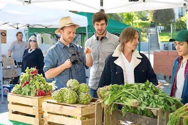 "Independent film ""California Solo"" stars Robert Carlyle, second from right, as an ex-British pop rocker with a troubled past who moves to L.A. and takes up organic farming."