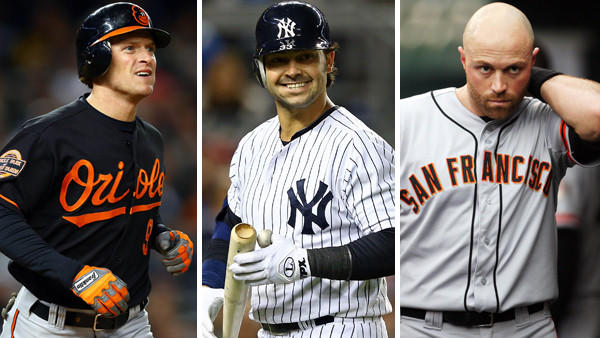 Hoping to sign an outfielder, the Orioles have had contact with Nate McLouth (left) and the representatives for Nick Swisher (center) and Nate Schierholtz.