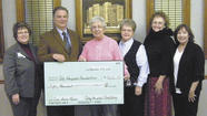 West Virginia University Hospitals-East City Hospital officials announced Nov. 30 a $50,000 donation by the City Hospital Auxiliary in support of the $3 million Time Saves Lives capital campaign.