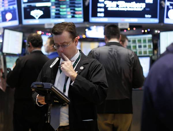 Traders work on the floor of the New York Stock Exchange this month, traditionally a good time for the stock market.