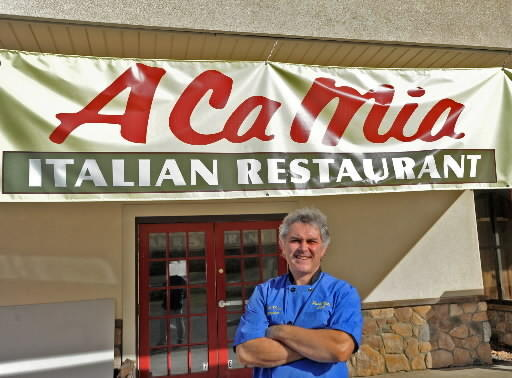 Paolo Noto in front of his new Italian restaurant A Ca Mia at 4330 Lehigh Avenue in Walnutport.
