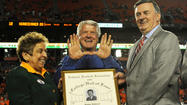 Jimmy Johnson became the ninth Miami Hurricane inducted into in the College Football Hall of Fame at a ceremony in New York City on Tuesday night.