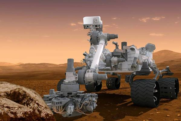 Plans for a new rover mission to Mars would be modeled in some ways after the mission that sent the Curiosity rover, shown here in an artist's rendering, to the Red Planet.