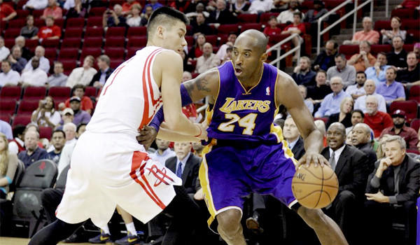 Kobe Bryant had 39 points, six rebounds and two assists in the Lakers' loss, 107-105, to the Rockets.
