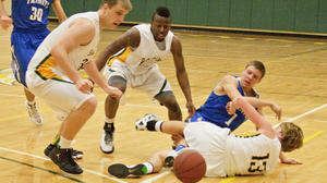 College Men's Basketball: On-court battle ends in TBC win