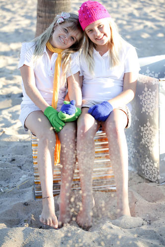 <i>Society Scene's</i> Holiday Issue cover models Ava Clem, left, and Morgan Clem. This year's Holiday Issue was sponsored by the Jewish Federation of Broward County.