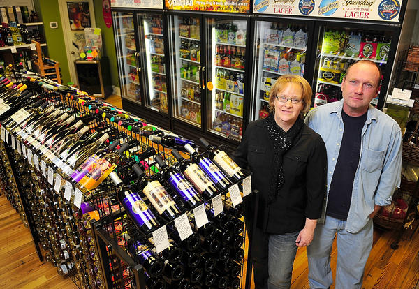 "Linda and JR ""Wayne"" Ebersole own L & J Liquors of Williamsport, which opened April 6 at 1 W. Potomac St. in Williamsport."