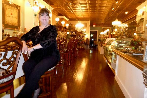 Le Chocolat owner Cathy Bouchard says the new 1,600-square-foot addition to her business is modeled after chocolate shops in Paris.
