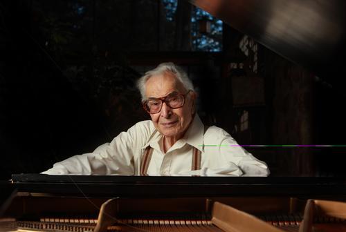 Jazz great Dave Brubeck in Wilton, Conn., in 2010.