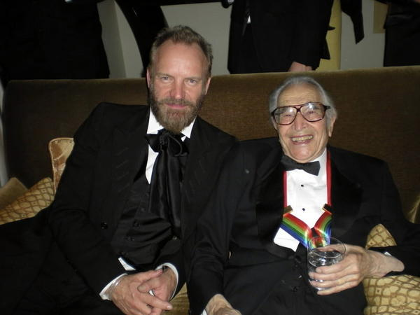 Sting and Dave Brubeck at the 2009 Kennedy Center Honors.