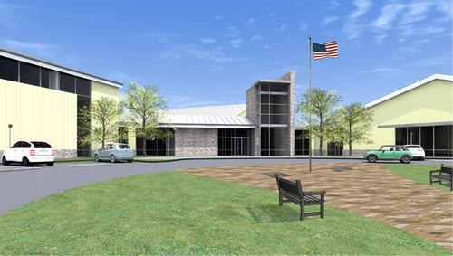 Exterior rendering of the new Towson Family Center Y.
