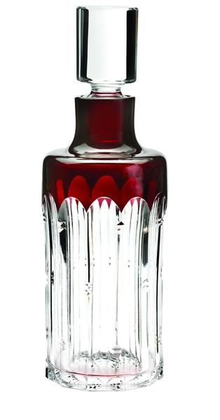 Waterford Mixology Talon colored cut crystal decanter, $375 at Bloomingdale's stores.
