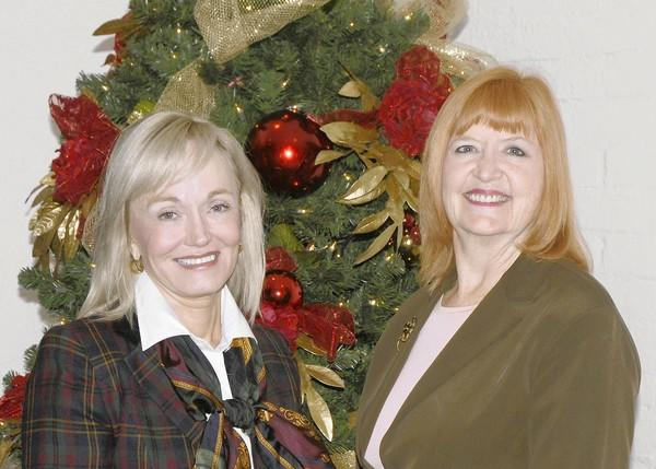 Elizabeth Pearson, director of development, and Karen Wood, executive director of the Laguna Playhouse.