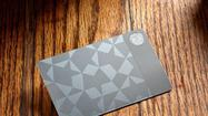 Starbucks' stainless steel gift card for $450.