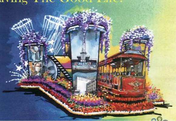 A rendering of Glendale's 2013 Rose Parade float.