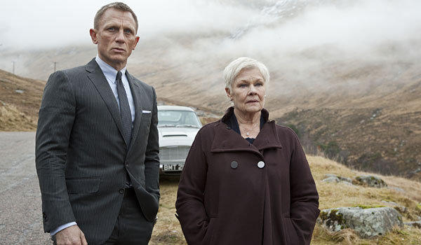 "Daniel Craig and Judi Dench in ""Skyfall."""