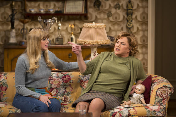 "Clea Alsip and Kathleen Turner in scene from ""The Killing of Sister George"" at Long Wharf Theatre"