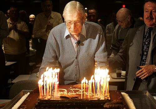 John Wooden, 95 and counting, 2005