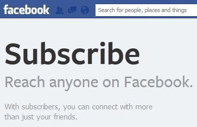 Facebook subscriptions