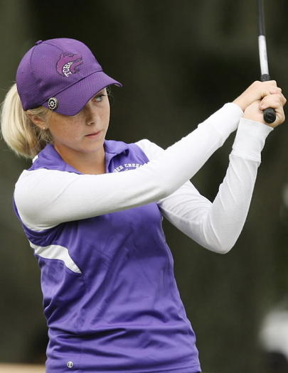 Timber Creek golfer Paige Lyle is among the golfers who have been named to the All-Metro Conference boys and girls golf teams. (Stephen M. Dowell, Orlando Sentinel)
