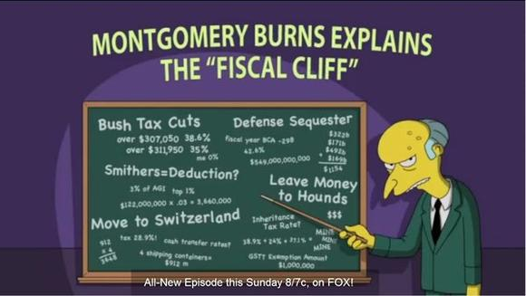 "Mr. Burns of ""The Simpsons"" explains the fiscal cliff"