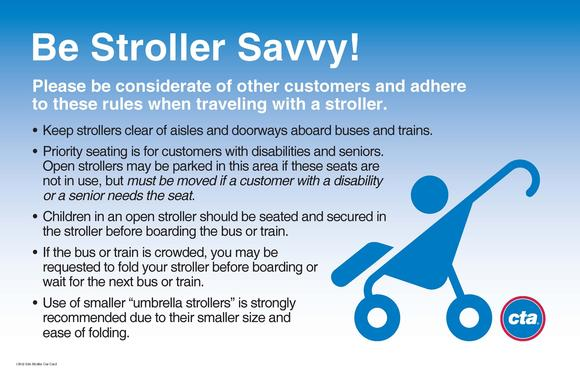 CTA launched new stroller information campaign on buses and trains.