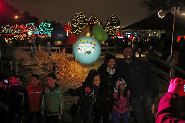 """ZooLights"" at Lincoln Park Zoo, and ""Holiday Magic"" at Brookfield Zoo: The annual decoration of area zoos in lights."