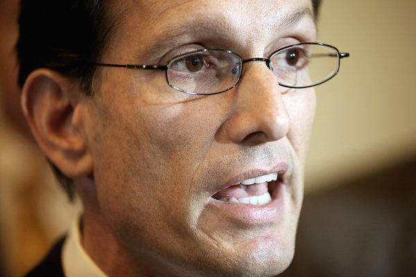"House Majority Leader Eric Cantor (R-Va.) says the House won't adjourn until a ""credible"" deal on the so-called fiscal cliff is reached."