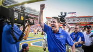Florida coach Will Muschamp earned SEC co-coach of the year honors, kicker Caleb Sturgis was named SEC co-special teams player of the year.