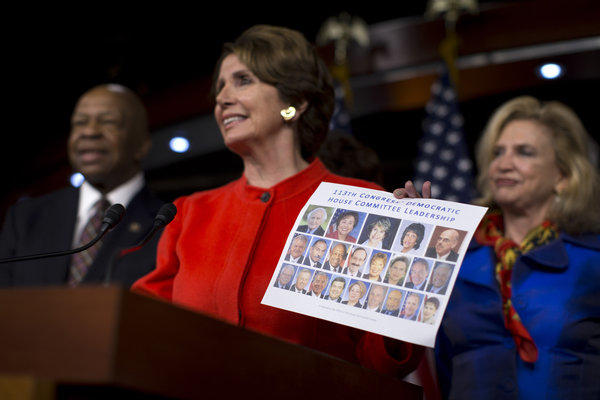 House Minority Leader Nancy Pelosi (D-Calif.) contrasts Democratic committee leaders with their Republican counterparts.
