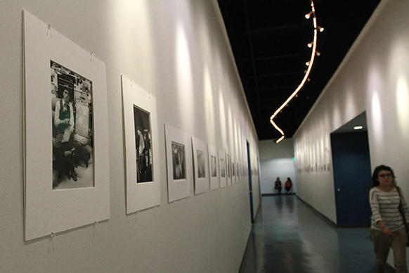 Student photography work is displayed in the halls of Broward College's new Fine Arts Building on the Davie campus on Wednesday, Dec. 5, 2012. Designed as a green building, the two-story, 37,000 square foot structure, is home to Broward College's visual and performing arts students and their works.