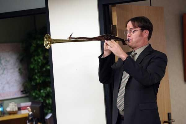 "A Christmas celebration in a new episode of ""The Office"" is based on Dwight's (Rainn Wilson) family's traditions, at 9 p.m. on NBC."