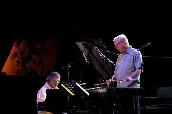 Chick Corea, left, with vibraphonist Gary Burton at UCLA for a 2011 performance.