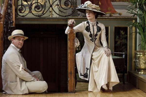 """Downton Abbey"" depicts the lives of the noble Crawley family and the staff who serve them, set at their Edwardian country house in 1912."