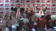 FAYETTEVILLE, Ark. (AP) — Bret Bielema watched from afar in April as Arkansas athletic director Jeff Long handled the difficult circumstances surrounding Bobby Petrino's firing, liking what he saw so much that he wrote Long a letter of support a few months later.
