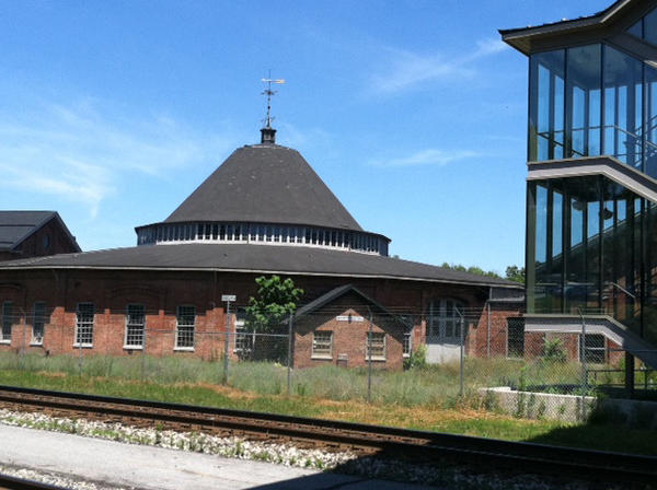"This is an exterior shot of the Baltimore & Ohio Railroad in Martinsburg, W.Va. Clarence E. ""CEM"" Martin III announced a $10,000 posthumous gift to the roundhouse from his mother, Catherine duBois Silver Martin."