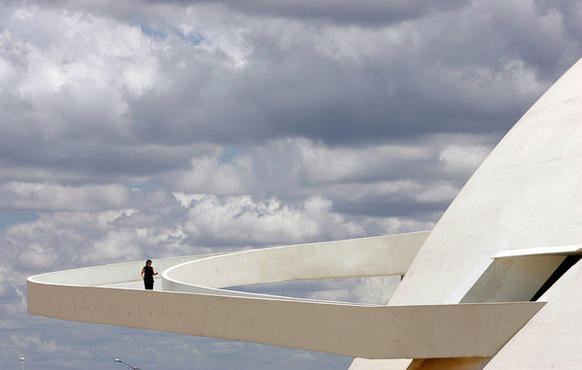 The ramp of Brasilia's National Museum, the work of Brazilian architect Oscar Niemeyer, as seen in December 2007. Niemeyer, a pioneer in the use of reinforced concrete to produce soaring, curvaceous forms, died Dec. 5 in a hospital in Rio de Janeiro. He was 104.