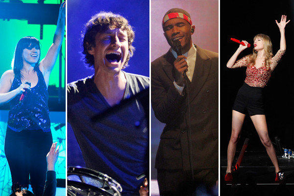 Record of the year nominees include Kelly Clarkson, Gotye, Frank Ocean and Taylor Swift. Not pictured: The Black Keys and Fun.