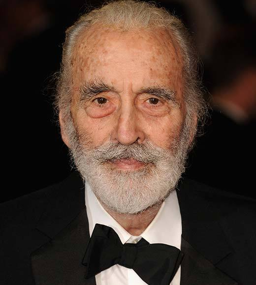 "You may know him as Count Dooku in ""Star Wars"" episode 2 and 3, Monsieur Labisse in ""Hugo,"" Scaramanga in ""The Man with the Golden Gun"" or Count Dracula in any number of Hammer horror films. He holds the Guiness World Record for most film acting roles ever, and he's the only member of the cast who met J.R.R. Tolkien in person."