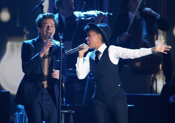 "Album of the year nominees fun. performed hit ""We Are Young"" with Janelle Mone on the Grammy nominations telecast."