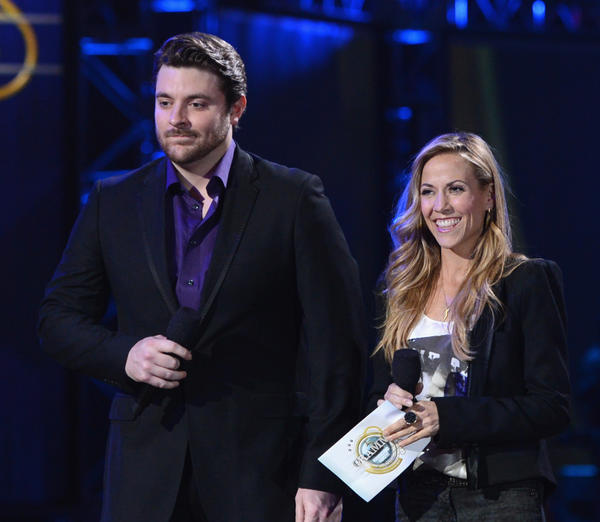 Musicians Chris Young and Sheryl Crow present Grammy nominees for record of the year.