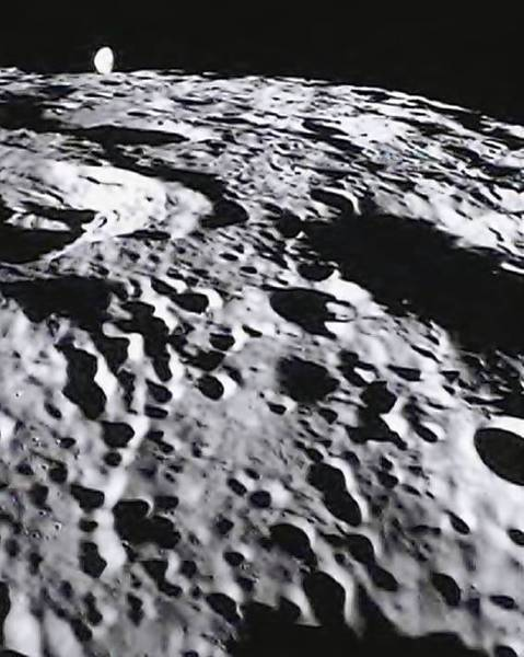 A lunar image from March taken by one of the twin GRAIL spacecraft that are orbiting the moon. The mission has recently produced the most detailed map of the moon ever recorded.