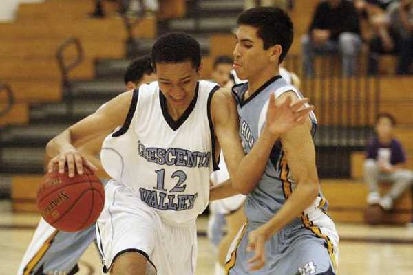 Crescenta Valley's junior guard Nick Springer finished with a game-high 16 points and seven rebounds.