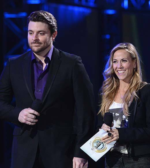 Sheryl Crow and Chris Young attend The GRAMMY Nominations Concert Live!! held at Bridgestone Arena on December 5, 2012 in Nashville, Tennessee.