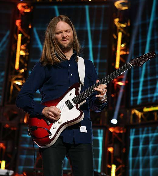 Guitarist James Valentine of Maroon 5 performs onstage at The GRAMMY Nominations Concert Live!! held at Bridgestone Arena on December 5, 2012 in Nashville, Tennessee.