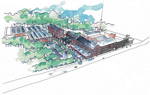 The developer for the city's Simon silk mill, a sprawling complex that hugs the Bushkill Creek along 13th Street, presented the plan for phase one at Wednesday's planning commission meeting.