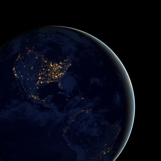 Earth seen by night