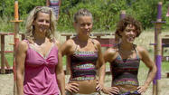 Back from Tribal Council, it's now clear to Abi that Mike, Lisa, Malcolm, and Denise are in an alliance, most likely because Jonathan flat out said so at the last Tribal Council. She's also a really bad liar, because she can't stop talking about the Idol that she doesn't actually have in a really goofy voice.
