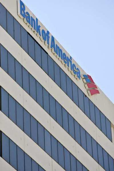 The Bank of America in downtown Glendale.